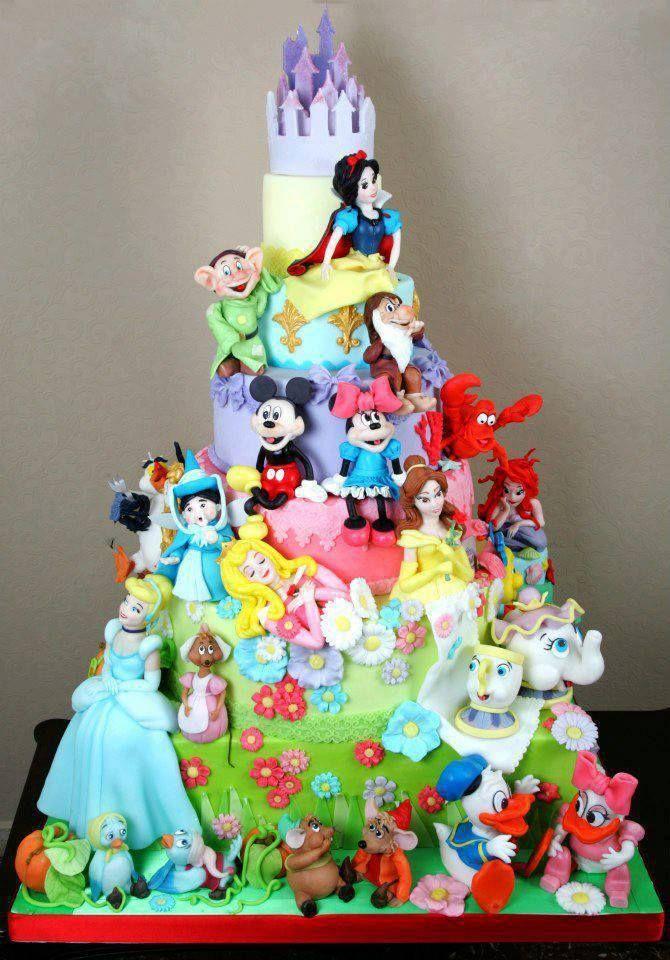 Disney Birthday Cake Designs