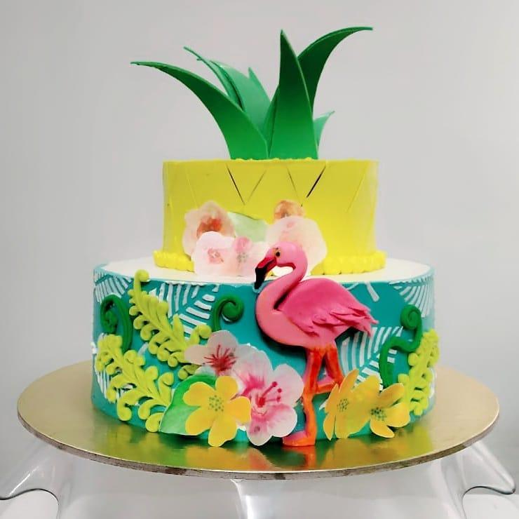 Garden of Paradise Birthday Cake Design For Kids