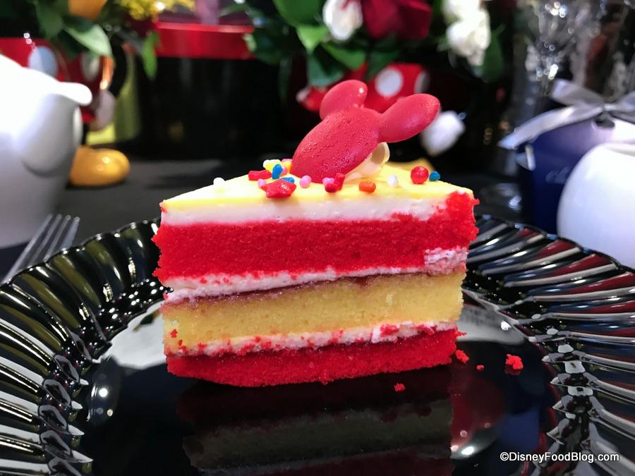 Slice of Disney Land Birthday Cake Design