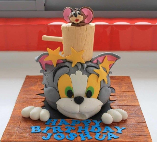 Cartoon Birthday Cake Design For Kids