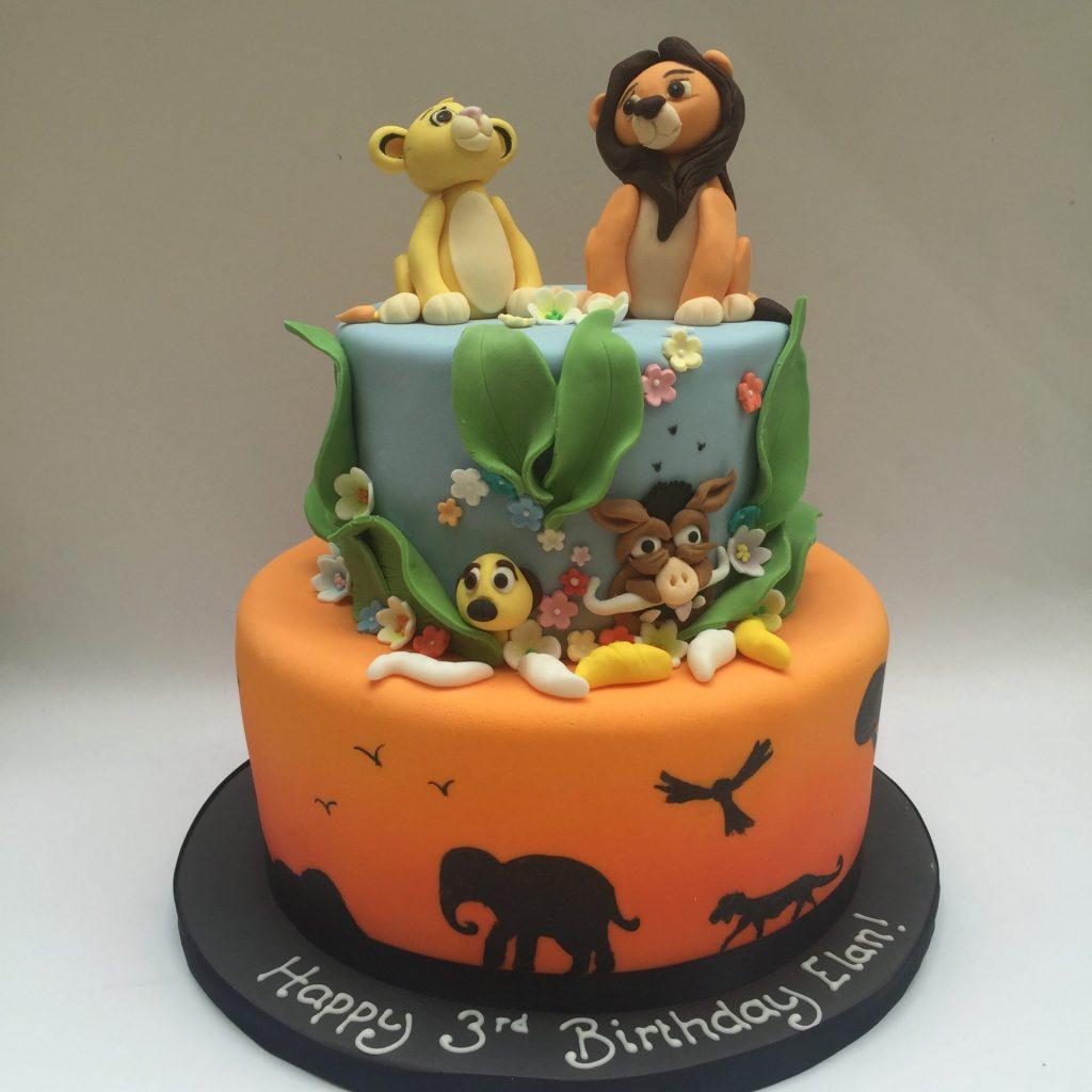 Lion King Fondant Birthday Cake Design For Kids