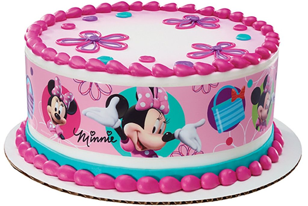 Minnie Mouse Bowtique Birthday Cake Design For Kids