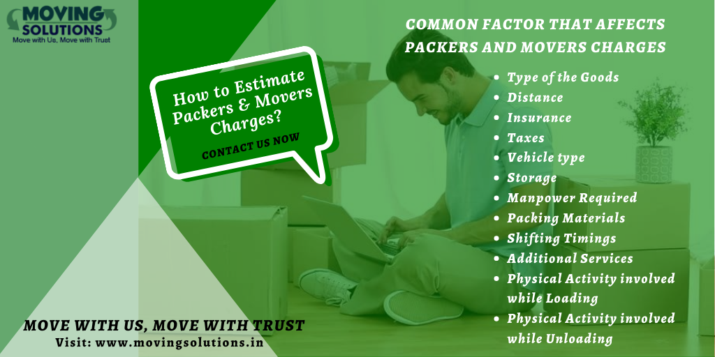 Estimate Packers and Movers Charges