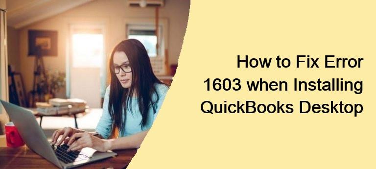 QuickBooks Microsoft Installer Error 1603