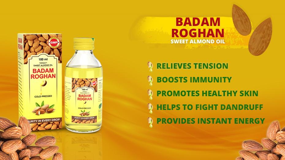 ayurvedic badam Roghan oil for stress